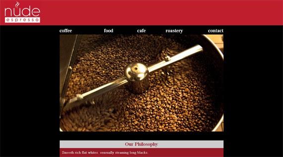 nude espresso coffee website 30 Sitios web sobre café para inspirarte
