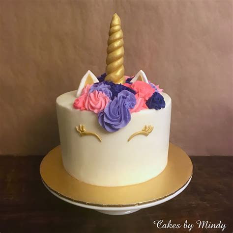 "Cakes by Mindy: Pink and Purple Unicorn Cake 8"" & Pink and"