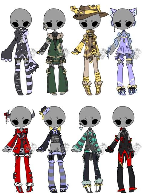adoptable outfit batch    deviladopts