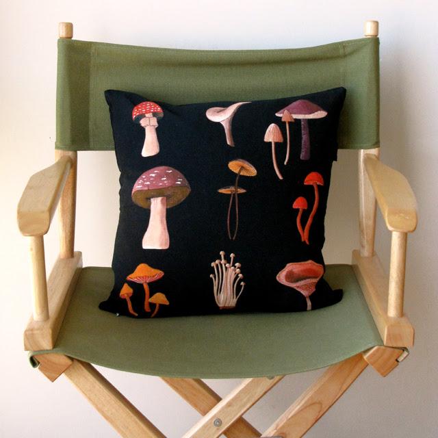 Mushrooms Pillow At Home