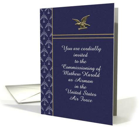 U.S. Air Force Commissioning Invitation, Eagle & Planes