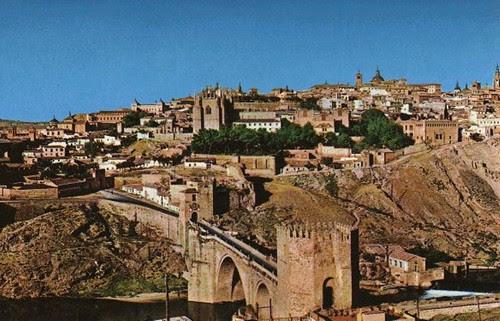 Puerta y Puente de San Martín (Toledo, España) en los años 60