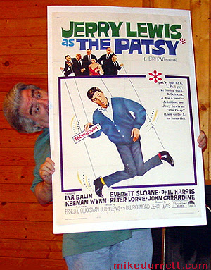 Mike Durrett and his Jerry Lewis as The Patsy movie poster.