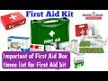 First Aid Box Items Names And Pictures