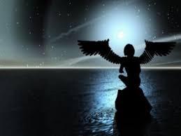 anjo,gotico,pensando,sentado
