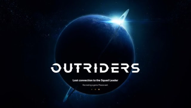 This title card has plagued me for much of the last two weeks. Screen grab from Outriders