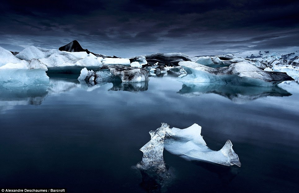Serene: Jokulsarlon Lagoon is the largest melting lagoon in Iceland. Thanks to global warming the incredibly beautiful nine mile-long fresh water lake has nearly doubled in size