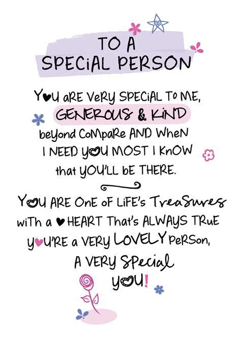 To A Special Person Inspired Words Greeting Card Blank