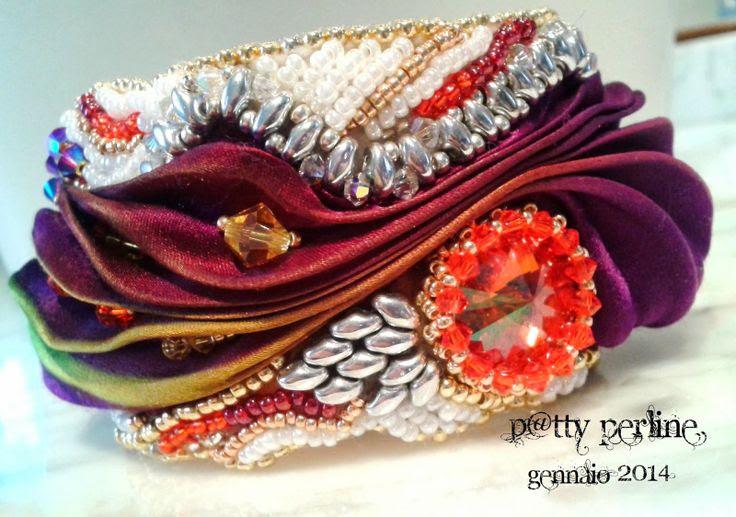 P@tty Perline: Shibori Silk + Bead Embroidery = Magic