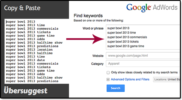 Ubersuggest and Google Keyword Tool