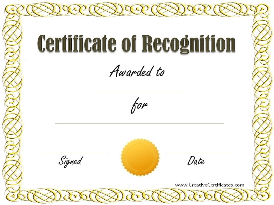 Certificate Recognition - certificates templates free