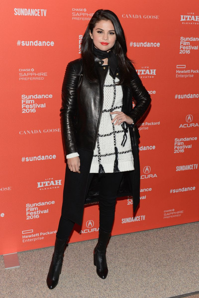 SELENA GOMEZ at The Fundamentals of Caring Premiere at 2016 Sundance Film Festival 01/29/2016