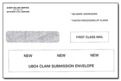 ub envelopes health forms systems