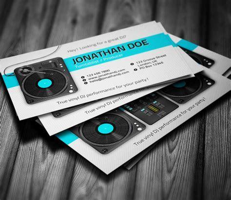 Amazing DJ Business Cards PSD Templates   Design   Graphic