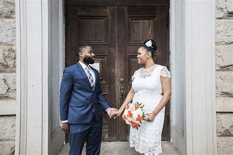 Intimate Wedding At The DeKalb County Courthouse: Onteria