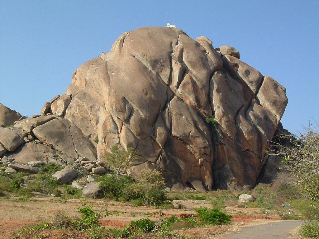 Rugged Rocky cliff in Heggunda