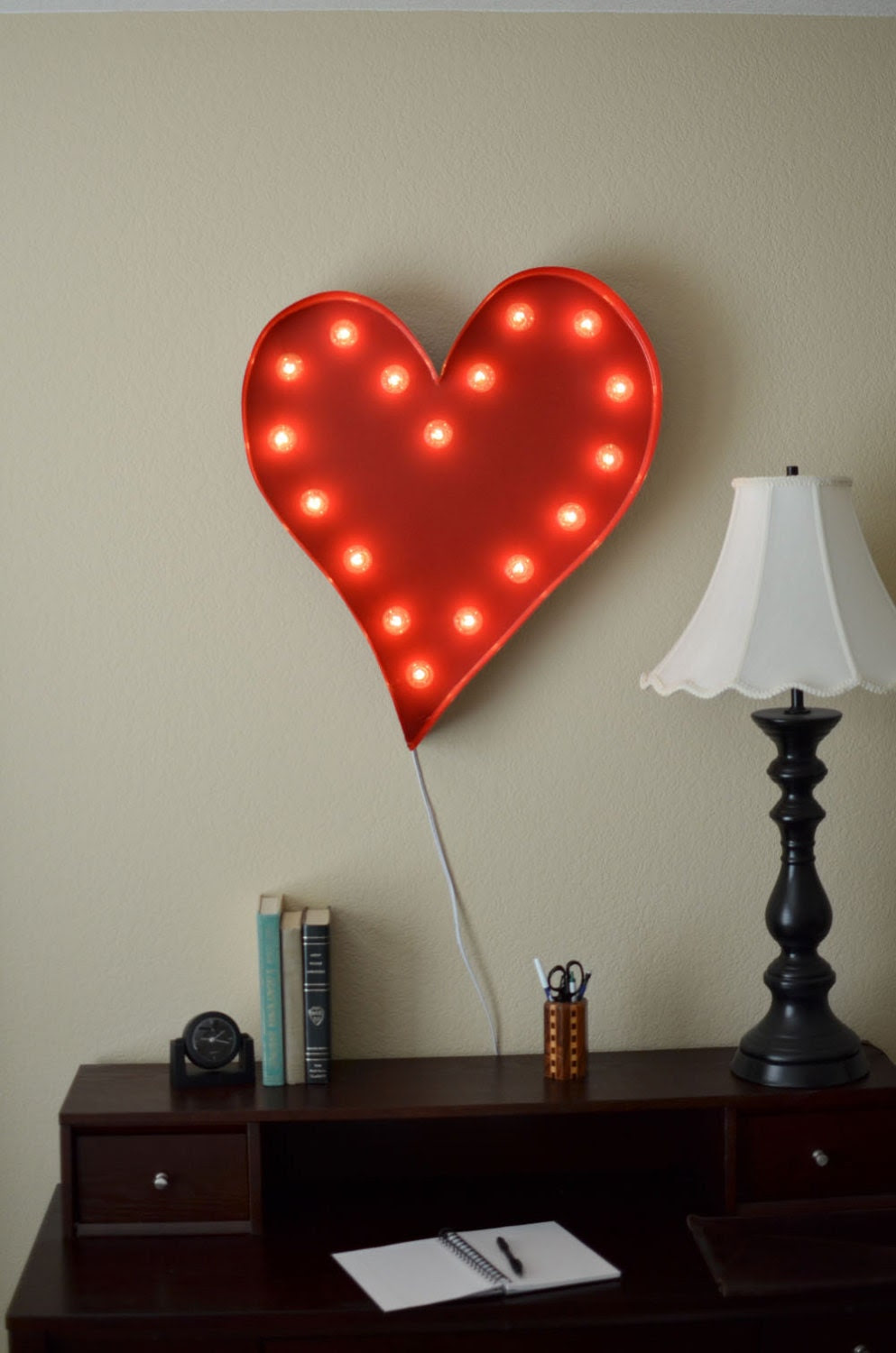 SALE Vintage Inspired Marquee Light- Heart