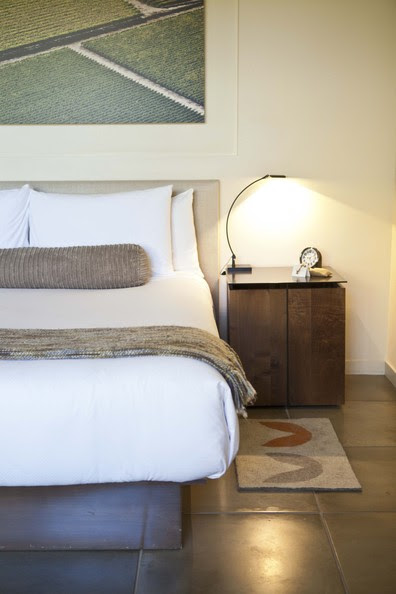 Bedroom - A bedside vignette at Napa Valley's Bardessono hotel