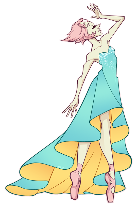 Commission for @phaedract of Pearl in a specific dress