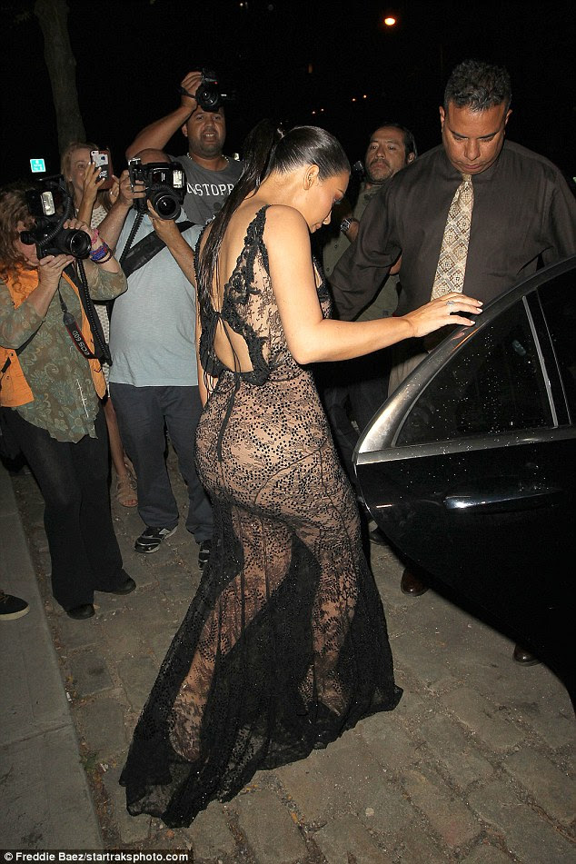 Blazing trail: The 35-year-old showcased her derriere and her legs as she strolled to the car