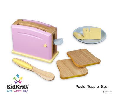 Cyberlog New Kidkraft Pastel Toaster Play Kitchen Superstore