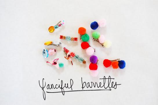 diy: fanciful barrettes