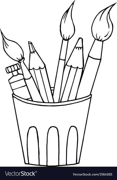 cartoon art supplies royalty  vector image