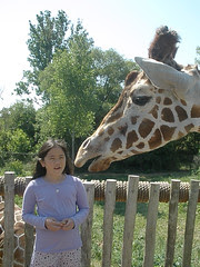 Sophia and Giraffe