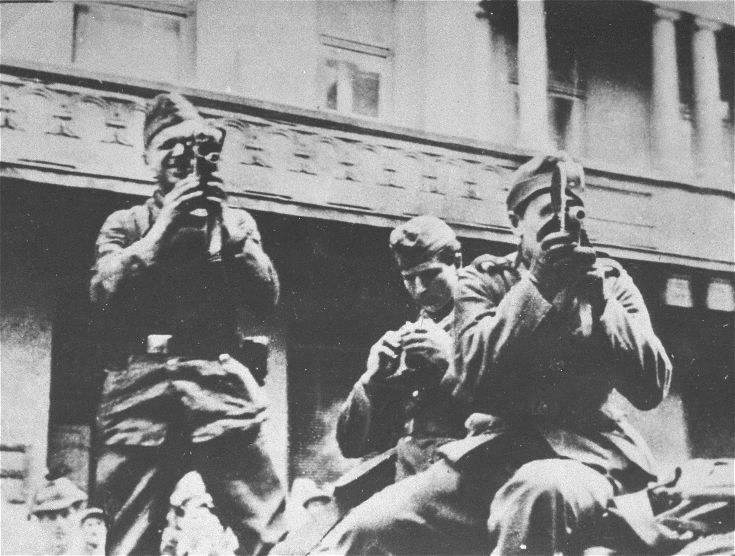 Members of a German military propaganda unit in Lviv, Ukraine, summer 1941