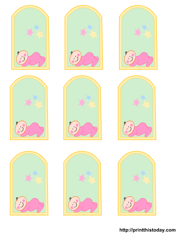 Free Printable baby girl, boy Baby Shower Favor Tags | Print This