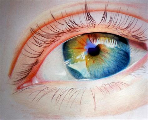colored pencil eye drawing face reality