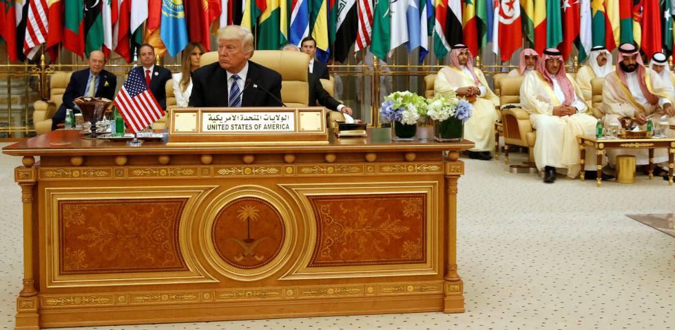 Donald Trump durante su visita a Arabia Saudí