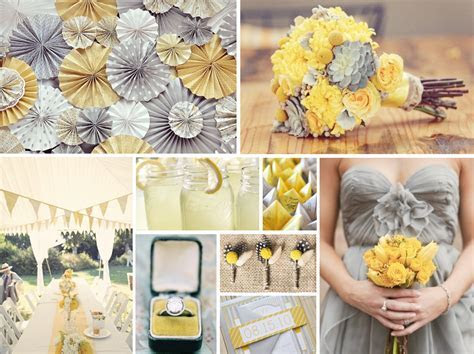 Gray and Yellow Wedding