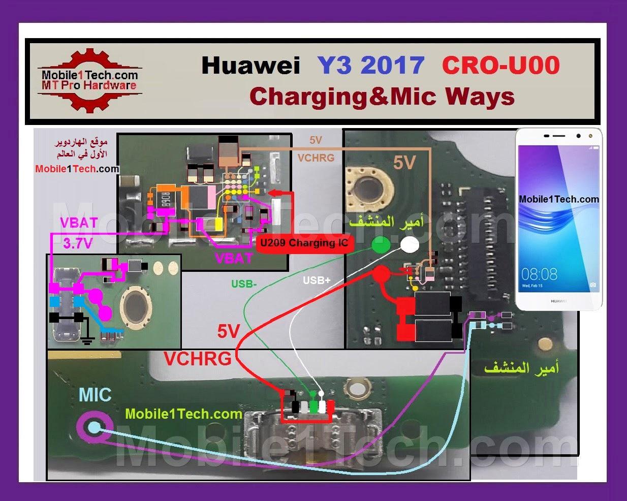Huawei Y3 2017 Charging Solution Jumper Problem Ways