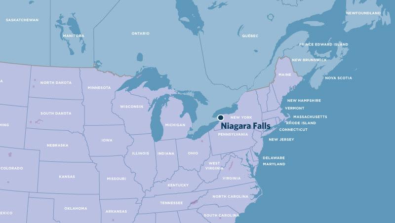 Time Zones Map Niagara Falls On World Map
