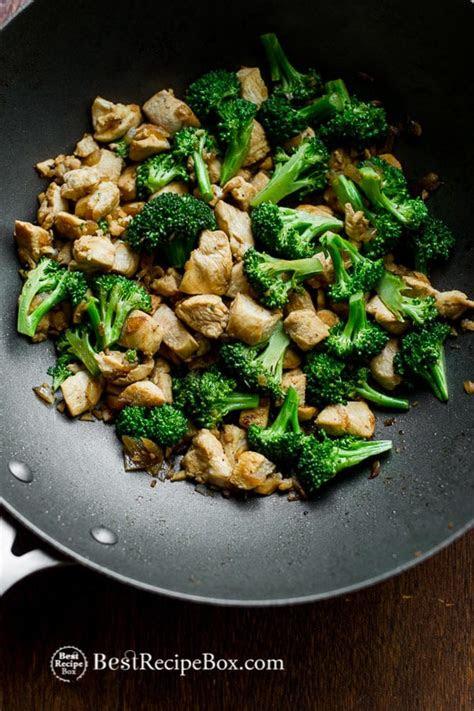chicken broccoli stir fry recipe  healthy easy