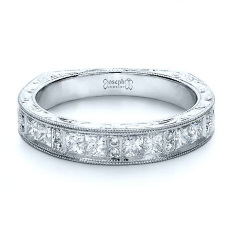Custom Princess Cut Diamond Women's Wedding Band #1134