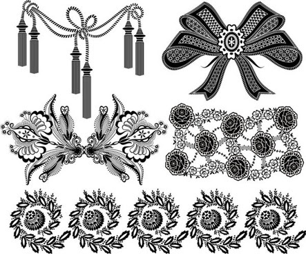 Decorative Black White Patterns Free Vector Download 40656 Free