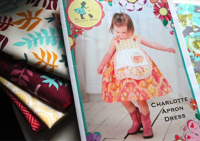 The Charlotte Apron Dress Pattern by The Cottage Mama
