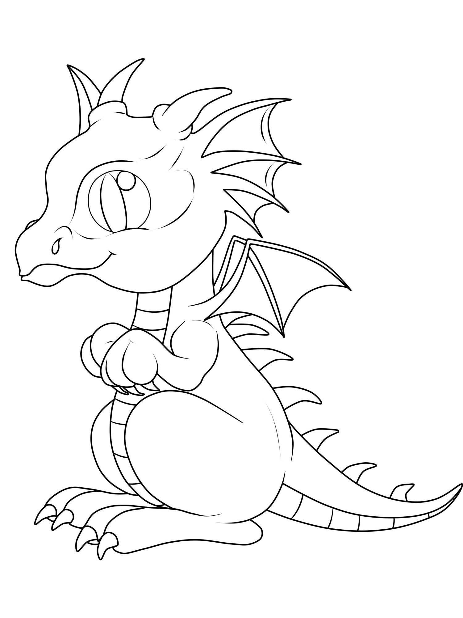 ausmalbilder drachen erwachsene  zeichnen und färben