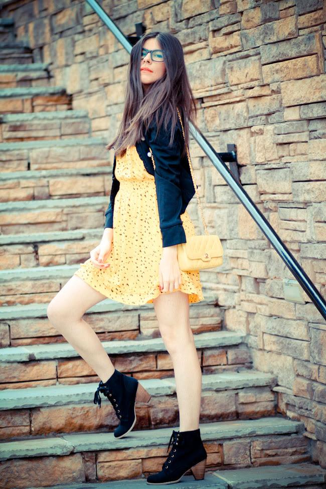 Fashion outfit, Modcloth, Chanel bag