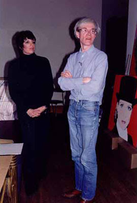 Andy Warhol and Liza Minnelli by Mark Sink