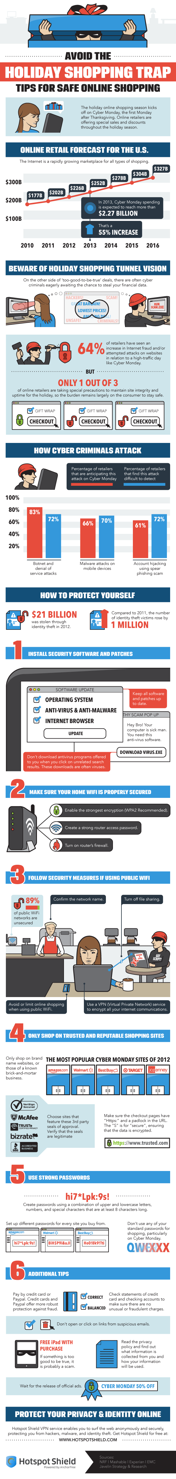 Tips for Safe Online Shopping #Infographic
