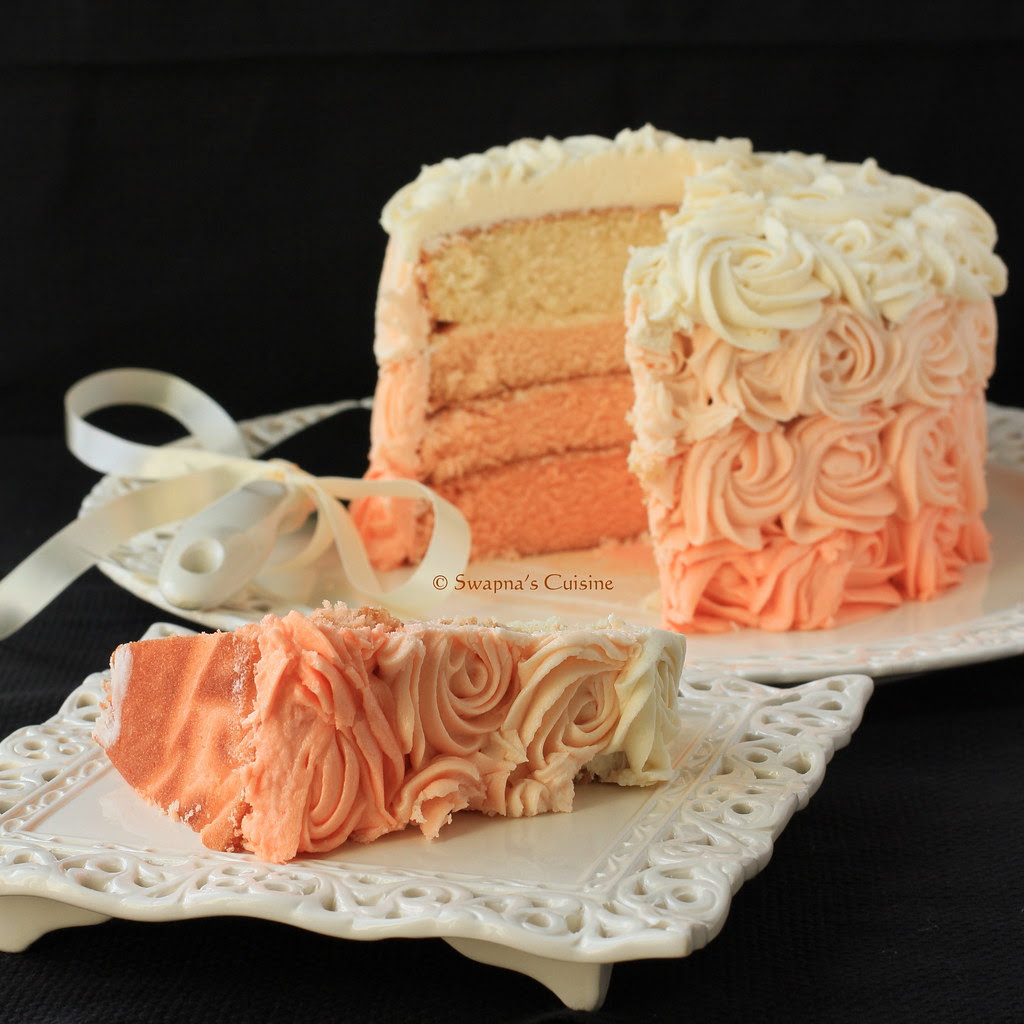 How to make an Ombre Rose Cake