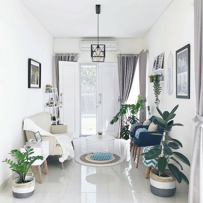 Ruang Tamu Dengan Nuansa Orange | Ide Rumah Minimalis