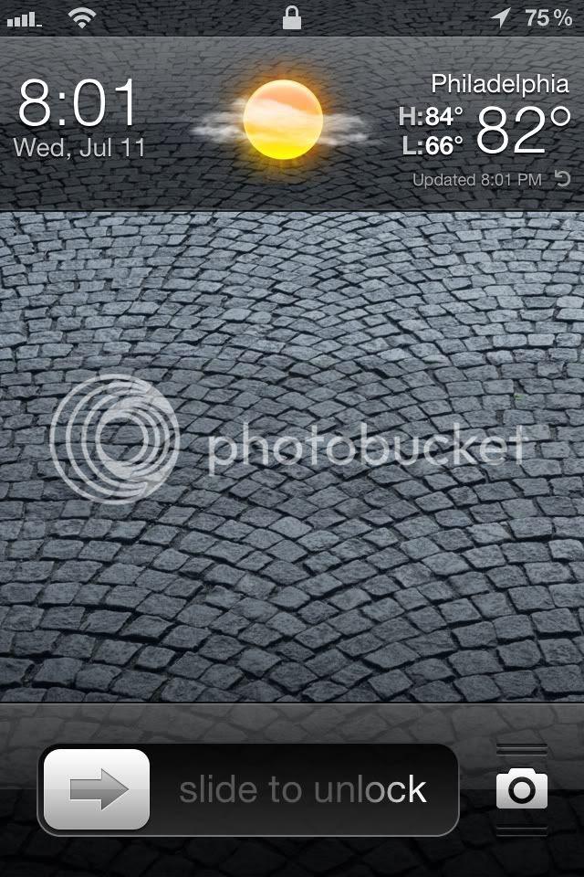 Forecast Lockscreen Clock Replacement via Cydia - IPHONE MOD