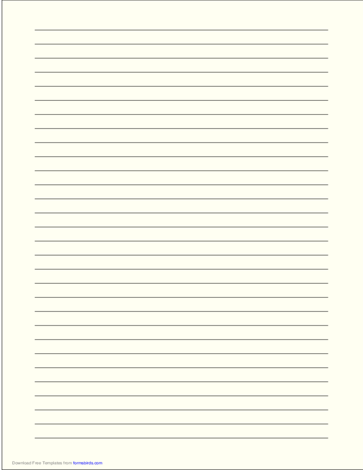 a4 size lined paper with wide black lines pale yellow l1