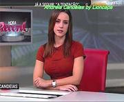 Andreia Candeias a bela jornalista da hora Record