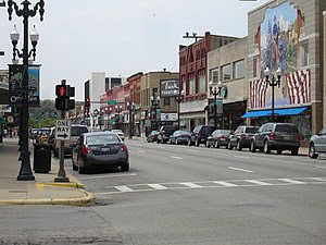Downtown Ottawa, Illinois, USA.