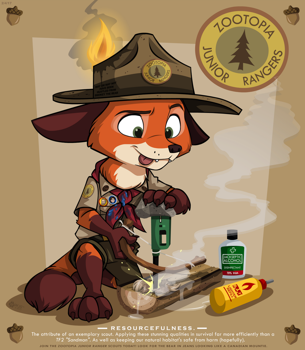 Wilderness Training by wolfjedisamuel